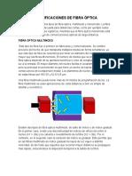 Clasificaciones de Fibra Óptica