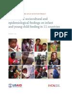IYCN Summary Sociocultural Findings 083011