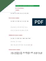 Operaciones Con Números Complejos