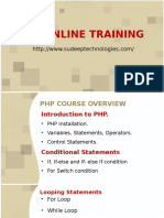 Php online course training institute