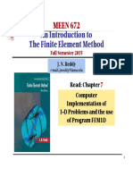 Computer Program FEM1DF15 (Ch7)
