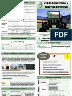 Díptico Dirección Deportiva y Scouting