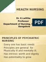Principles of Psychiatric Nursing