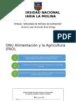 Juan Armando Nina Zuñiga - Emisiones de Metano - Universidad Nacional Agraria La Molina