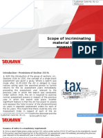 Scope of Incriminating Material in Block Assessments