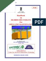 Draft Handbook on Ir-drdo Bio-Toilets for Open Line Maintenance(1)