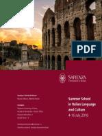 Sapienza Summer School 2016