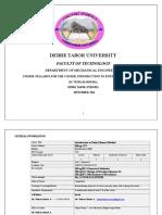 Syllabus for FEM