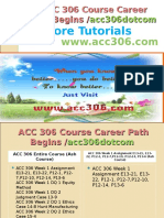 ACC 306 Course Career Path Begins Acc306dotcom