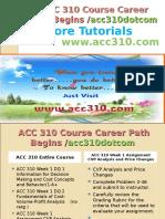 ACC 310 Course Career Path Begins Acc310dotcom