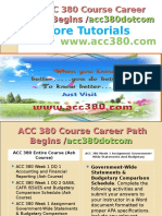 ACC 380 Course Career Path Begins Acc380dotcom