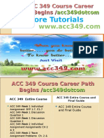 ACC 349 Course Career Path Begins Acc349dotcom