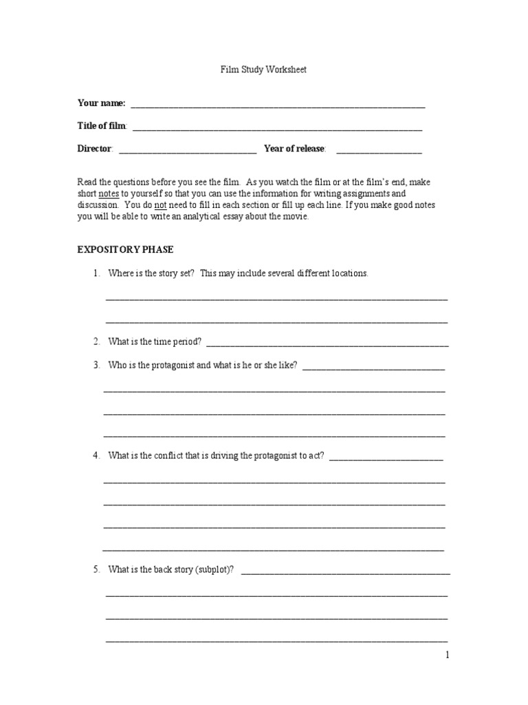 worksheet Film Study Worksheet web ap film study work sheet