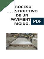 Proceso Constructivo de Un Pavimento Rígido