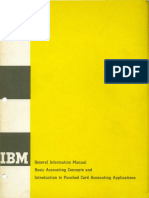 IBM - E20-8058 Basic Accounting Concepts 1961