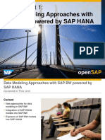 OpenSAP BWHANA1 Week 3 Data Consumption and Analysis