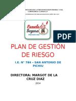 Plan de Gestion Riesgo y Contigencia