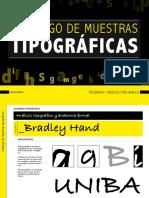 Catálogo Muestras Tipograficas