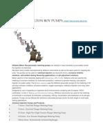 Pneumatic Metering Pumps