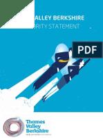 Thames Valley Berkshire Skills Priority Statement - November 2015