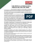 Manifiesto Apoyo Huelga 8 de Junio