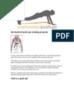 100 Pushups Guide