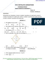 Cbse Sample Papers for Class 8 Mathematics FA 1 WITH SOLUTION