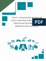 Temario_M6T1_Conservación de Obras de Tierra y Del Entorno de La Carretera