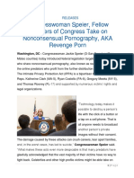 Congresswoman Speier, Fellow Members of Congress Take on Nonconsensual Pornography, AKA Revenge Porn