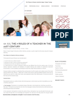 The 7 Roles of a Teacher in the 21st Century
