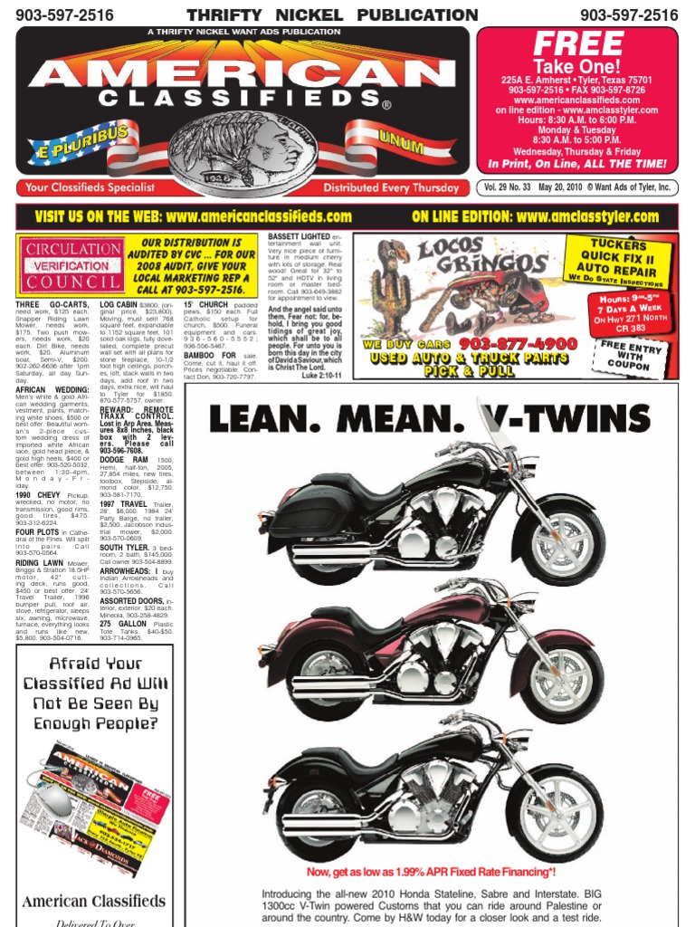 Tyler texas american classifieds may 20 2010 issue renting tyler texas american classifieds may 20 2010 issue renting advertising fandeluxe Gallery
