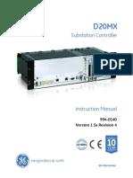 D20MX Substation Controller Instruction Manual