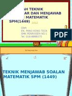 Teknik Jwb Maths Spm-PANG