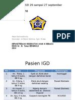 Laporan Jaga IGD 26 sampai 27 september 2014.pptx