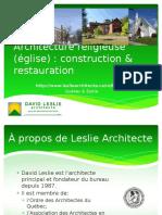 Architecture et restauration d'église par David Leslie, architecte écologique
