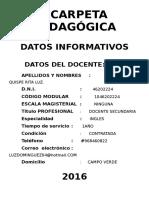 Carpeta Pedagógica 2016 Imprimir - Copia