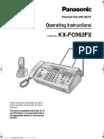 Panasonic KX-FX962FX Operating Instructions
