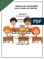 Plan de Mejora Del Desempeño Académico a Nivel de Centro