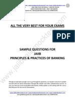 JAIIB PPB Sample Questions by Murugan for May 2016