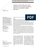 Analysis of the Socket Bone Wall Dimensions in the Upper Maxilla in Relation to Immediate Implant Placement