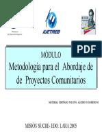 m0dulo Metodologia Para El Abordaje de Proyectos Comunitar