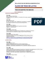 Catalogo de Tesis de La FCA