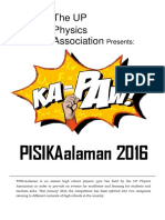 PISIKAalaman 2016 Guidelines and Mechanics