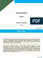 Sbi Analyst Ppt Fy16