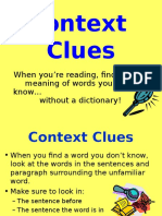context clues power point