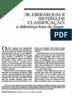 Cor, hierarquia e sistema de classificação - Yvonne Maggie.pdf