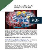 Prediksi Bola Bayern Munchen Vs Manchester City 21 Juli 2016