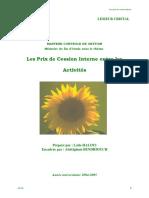 Les Prix de Cession Interne Entre Les Activités à Lesieur Cristal.