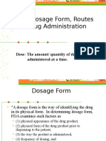 PHR 110 Dose, Dosage Form, Routes of Drug.ppt