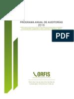 Programa de Auditorías 2016